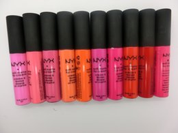 New NYX Lip Cream Soft Matt lipsticks Makeup 12 Colors for Choose long-lasting Waterproof lipgloss DHL free Lipsticks Comestics
