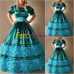 Wholesale Custom Made Southern Civil War Belle Dress Civil War Ball Gowns Victorian Cosplay Costume V052