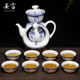 Wholesale Ceramic kung fu tea cups of a complete set of automatic tea service and exquisite ammonium empty