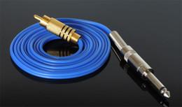Wholesale USA Dispatch Pro Blue color Silicone RCA Clip Cord Clipcord with Audio Plug for Tattoo Machine Gun Powe Supply XRC03
