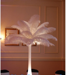 Wholesale 2016 DIY Ostrich Feathers Plume Centerpiece Weddings Party Table Hot Selling cm Wedding decoration New Arrival