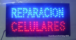 Wholesale hot selling customerized Animated LED REPARACION CELULARES SIGN BOARD SIZE x10 quot Led Neon REPAIR CELL PHONES signs