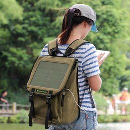 Wholesale Outdoor Solar Backpack Camping Solar Charger Outdoor Camping Travel Mobile Phone Solar Panel Power Battery Solar Powered Backpack Y2047