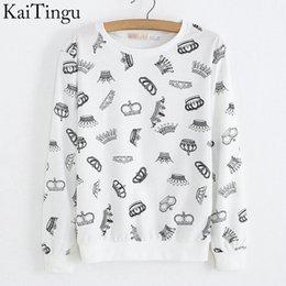 Wholesale KaiTingu New Autumn Style Long Sleeve Hoodies Sportswear Sweatshirt Women Tracksuits Sport Suits Pullover Tops Banana Print