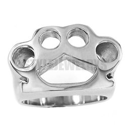Free shipping! Silver Boxing Glove Ring Stainless Steel Jewelry New Design Fashion Motor Biker Ring Classic Men Women Ring SWR0416A