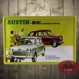 Wholesale Austin Mini Large metal Aluminium Sign vintage shabby chic tin sign
