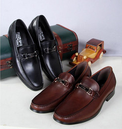 Wholesale New Style France Brand Mens Loafers Genuine Leather Casual Flats Men Loafers Shoes Breathable Zapatos Hombre Black Slip on Shoes Big Size