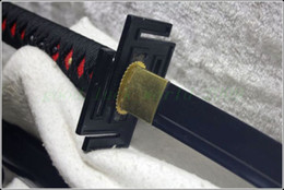 Wholesale Japan Ninja Sect Shrine Samurai Sword Katana Carbon Steel Black Blade Hand Forge