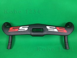 Wholesale New S5 carbon handlebar red white bicycle handlebar cervelo S5 carbon road bike handlebar