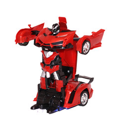 Deformation Remote Control Car Transformation Robot Boy Racing Puzzle Children's Electric Toys