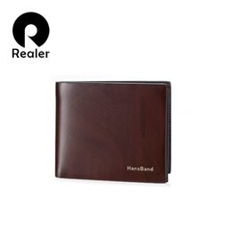 Brand new short genuine leather luxury men wallets with coin pocket mens business textured wallet and purse card holder clutch