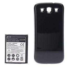 Promotion prolongée boîtier de la batterie de galaxie Remplacement 3.7V 4500mAh Batterie étendue pour Samsung Galaxy S3 I9300 (1 Hard Case *)