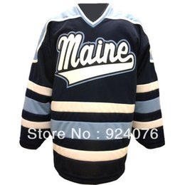 Wholesale Factory Outlet Custom N C A A University Maine Black Bears K1 Home Hockey Jersey Customized Any Number Any Name Sewn On S XL