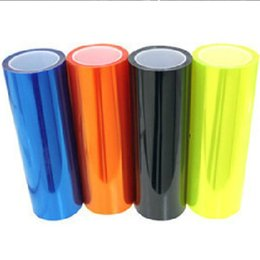 Wholesale 12 Colors cm x100cm Auto Car Light Headlight Taillight Tint Vinyl Film Sticker Self Adhesive Headlights or Fog Lights