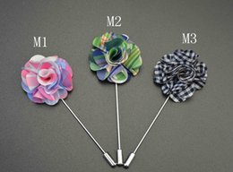 10piece   lot new men brooch flower lapel pin suit boutonniere wedding groomsman button flower short pin wholesale cheap brooch