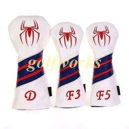 High quality Volf Golf Spiderman Golf Woods Club headcover Leather Golf Driver Fairway woods headcover