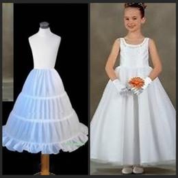 on Sale in Stock Cheap Three Hoops Underskirt Little Girls A-Line Petticoats Slip Ball Gowns Crinoline For Flower Girls' Dresses