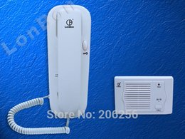 Wholesale Wall mounted wired intercom kit LB B Point guard duty room office cell wall one intercom calls Suitable for home office villa