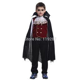 Shanghai Story new Children's Halloween Role play the hero The new boy kids vampire costumes Halloween Cosplay costume