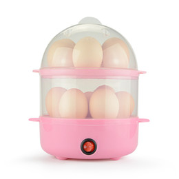 Wholesale Double Layer Eggs Electric Egg Cooker Automatic Safe Power off Egg Boiler Steamer Multi function Cooking Tools