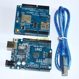 Wholesale TI CC3000 Wifi for Arduino development expansion Wifi wireless shield UNO R3 MEGA328P ATMEGA16U2 with usb cable