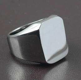 Joyería de los nuevos hombres de alta pulido Signet sólida de acero inoxidable Biker anillo de los hombres desde alto acero inoxidable pulido fabricantes