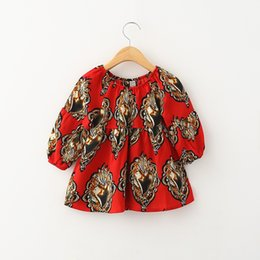 Wholesale Spring Blouse Flower - HUG Me Baby Girls Tops Kids T-Shirts 2016 New Spring Korean Long Sleeve Cotton Printed Flowers Lace Girls Tops Blouse MC-942