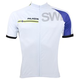 Men's Short Sleeve Cycling Unique Paladin SWEDEN SW Team flag polyester quick dry maillot quality ciclo jersey