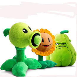 Wholesale-30CM Plants vs Zombies Pea Shooter Sunflower Squash Plush Toys Doll Soft Plush Toy Doll Game Baby Party toys birthday gift