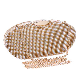 Wholesale-New Arrival Women Evening Bags With Chain Shoulder Day Clutches Handbags Hobos Design Gold Silver Black Tote Bags