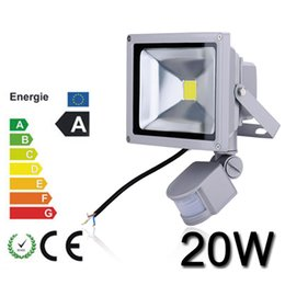 20W PIR led floodlights with Aluminum Lamp IP65 outdoor 2 years warranty 100% Full watt chip