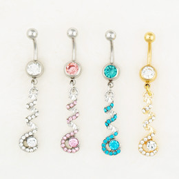 Wholesale 0554 body jewelry Nice style Navel Belly ring mix colors stone drop shipping factory price