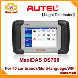 Wholesale 100 Original Autel MaxiDAS DS708 DS auto scanner diagnostic tool Multi language update online