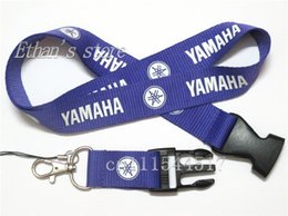Wholesale Men Purple Yamaha ID lanyard car logo auto phone neck straps badge holders