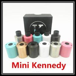 Wholesale Colorful Mini Kennedy RDA Vaporizer Kit Clone Vape with Extra Kennedy V2 Outer Barrel DIY Ecig Vapor Tank Airflow Adjustable Ecigarette