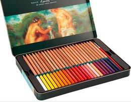 Wholesale 48colors set marco oily colored pencil mini colored pencil set lapis de cor crayon de couleur articulos papeleria3120 TN