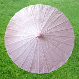 Wholesale I AM YOUR FANS paper wedding parasol Paper wedding umbrellas light pink Just in stock