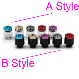 Wholesale 7 holes filter Wide Bore Drip Tip Heat insulation with Aluminium Acrylic Dripper Tips filtering vapor Mods RBA RDA Atomizers Mouthpiece