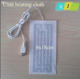 Venta al por mayor de la correa-USB más caliente del paño de calefacción eléctrica 8 * 18cm nueva almohadilla caliente super climatizada para la ropa calefactor para ropa desde venta al por mayor cojín del paño fabricantes
