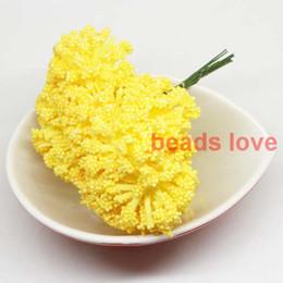 (144pcs lot) Sale!! big foam leeks Yellow flower Chives Flower with wire stem wedding flowers (w03316)