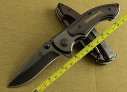 Browning Ebony Wood Folding blade Survival Tactical hunting knife camping knife knives OFF069