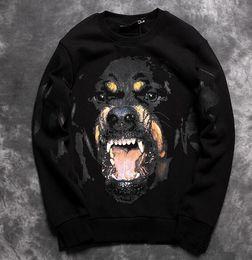Wholesale 2016 Autumn New men and Women couple Fleece Pullovers D Printing Vicious dog big dog s head pattern Sweatshirts hip hop street coat