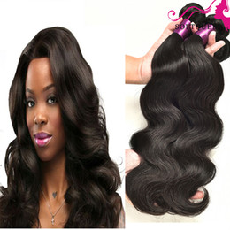 Brazilian Virgin Body Wave Hair Human Weaves 4 Bundles Brazilian Body Wave Virgin Hair Wefts Natural Black Brazilian Hair Bundles Hair Wefts