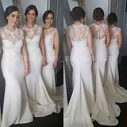 vestido de dama de honra Modest High Neckline Bridesmaid Dresses Covered Button 2018 Evening Party Formal Occasion Dresses