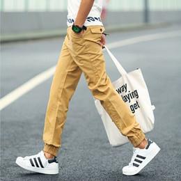 Wholesale-2015 Mens Joggers Solid Color Jogger Pants Casual Pantalones Hip Hop Harem Pants Skinny Joggers Men Jogging Homme