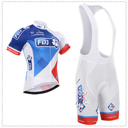 2015 FDJ short sleeves Cycling Jersey Bicycle Breathable Racing Bicycle Clothing Quick-Dry Lycra GEL Pad Race MTB Bike