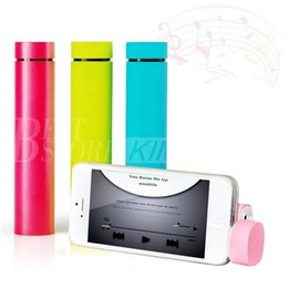 Wholesale 3 in Mini Tube powerjam mAh Charger Portable Speaker smart phone stand External Power Bank powerbank backup Battery mobile Holder