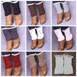 New Lace twist Crochet Knit Leg Warmers Boot Cuffs Toppers Boot Socks 23pairs lot #3911