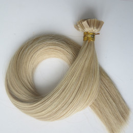 100Strands=1Set 100g Pre bonded Flat Tip human Hair Extensions 18 20 22 24inch M27&613 color Brazilian Indian Keratin Human Hair