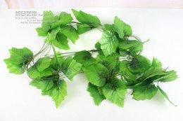 Wholesale Hot sale silk plastic artificial plants flower fake vine Party Home decorative flores Grape leaf rattan A095